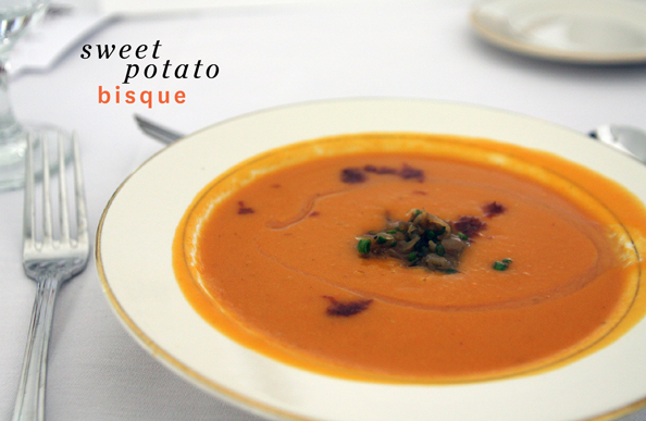 sweet potato bisque thanksgiving