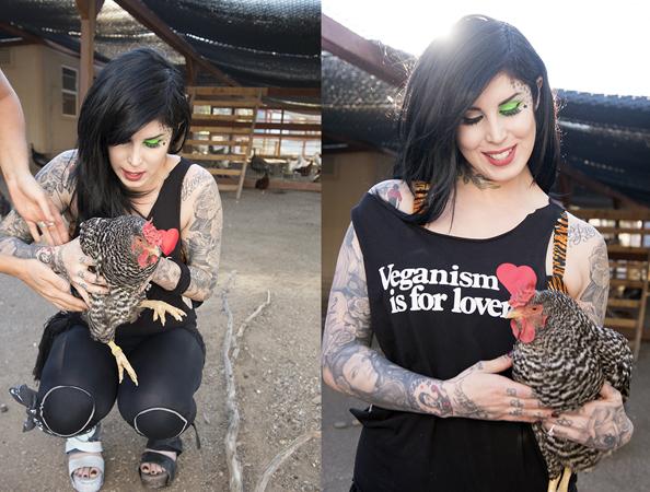 Vegan Kat Von D Chicken Laika Magazine