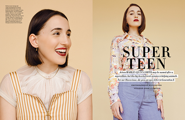 Harley Quinn Smith LAIKA Magazine vegan fashion